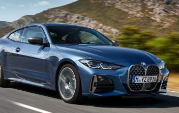Coche BMW Serie 4 Coupé circulando en carretera