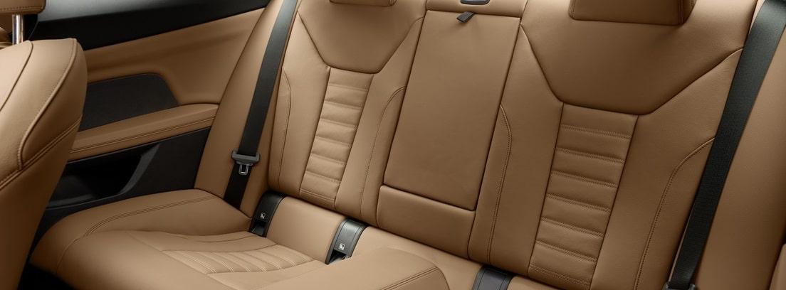 Vista interior de los asientos traseros del BMW Serie 4