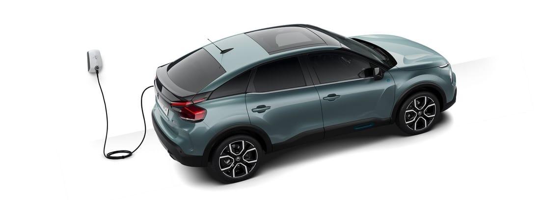 Diseño gráfico del nuevo Citroën ë-C4 durante una carga