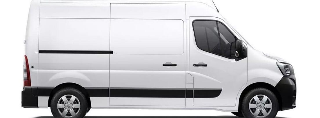 Fotografía estilo catálogo de un furgón blanco Renault Master ZE