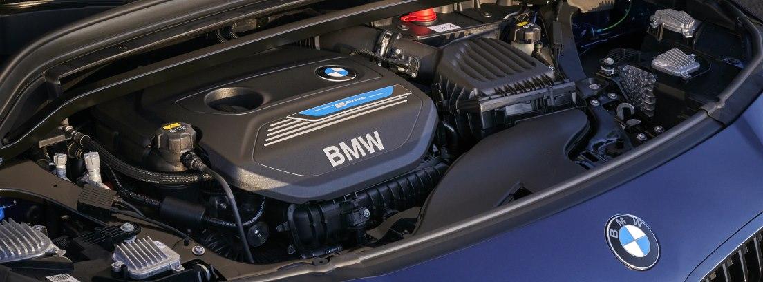 Detalle del motor del BMW X2 xDrive25e