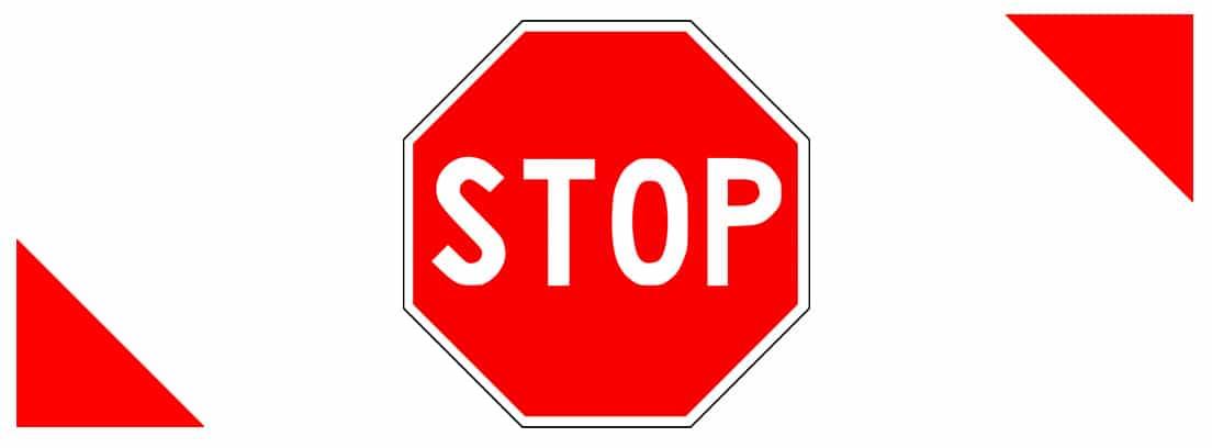 Señal R-2 de detención obligatoria o stop