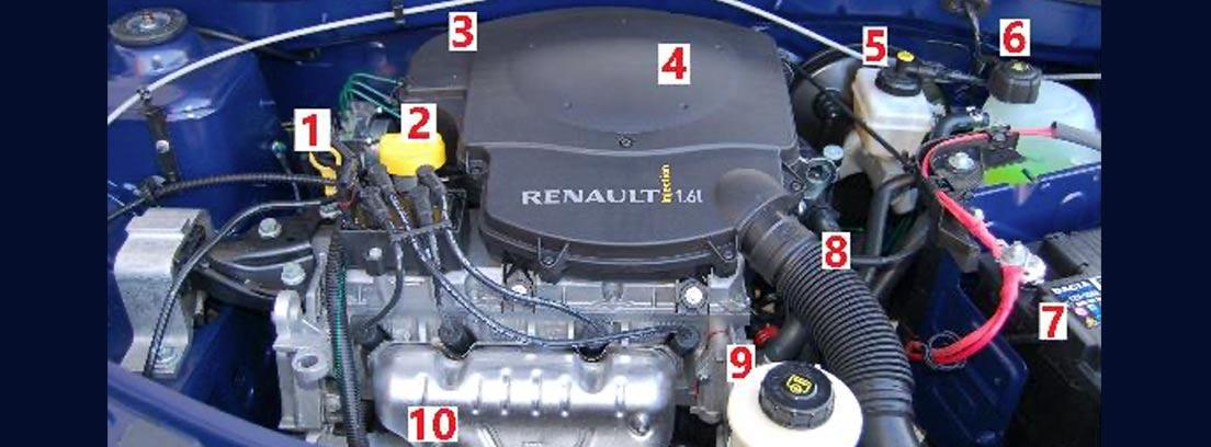 Partes del motor de un coche Dacia Logan