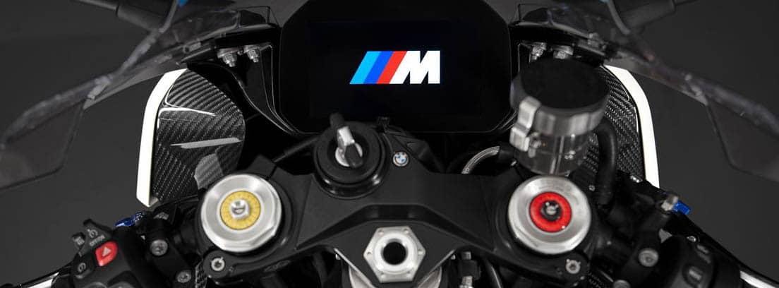 Detalle del manillar de la nueva BMW M 1000 RR
