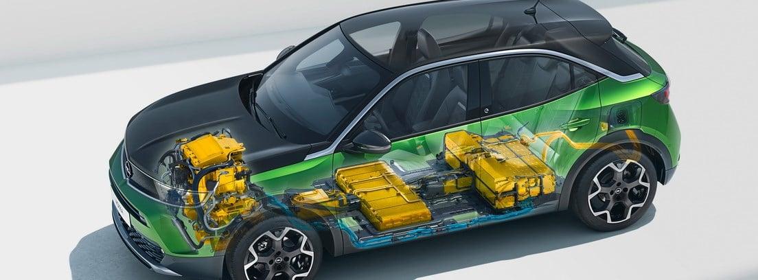 Gráfico del equipo de baterías y motor del nuevo Opel Mokka-e