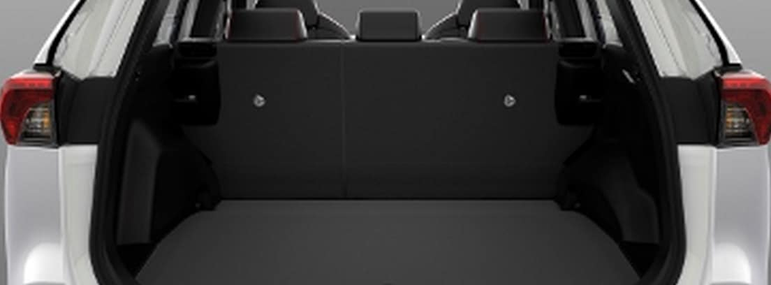 Maletero abierto del nuevo Suzuki Across 2021 blanco