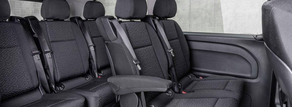 Habitáculo trasero de la nueva furgoneta Mercedes e-VITO Tourer