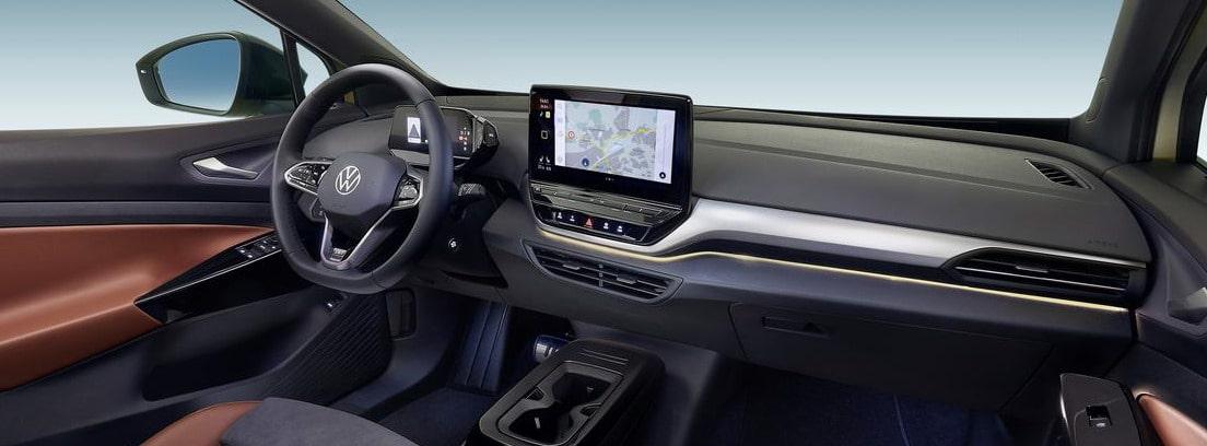 Vista del volante y el salpicadero del nuevo Volkswagen ID.4