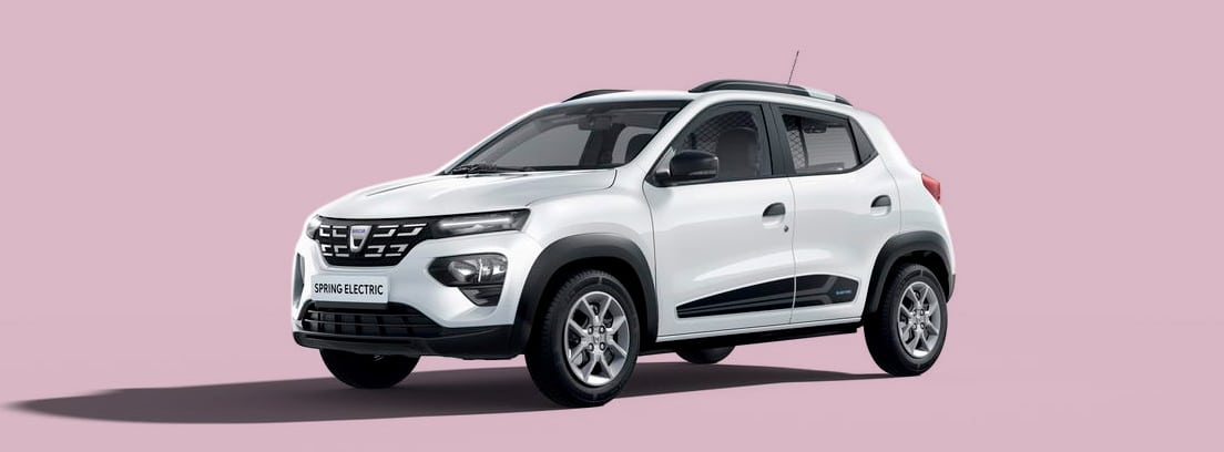 Dacia Spring Electric en blanco