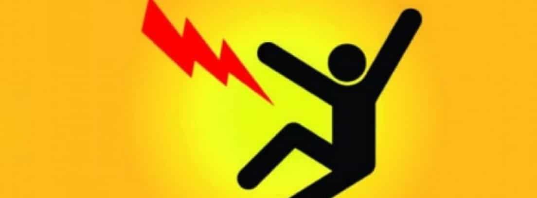 Dibujo de señal de riesgo de descarga eléctrica