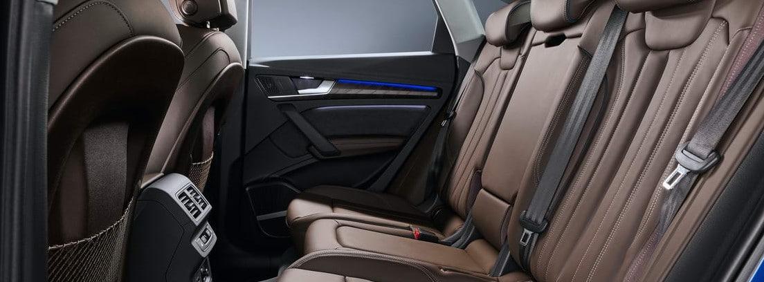 Vista del habitáculo de los pasajeros del nuevo Audi Q5 Sportback