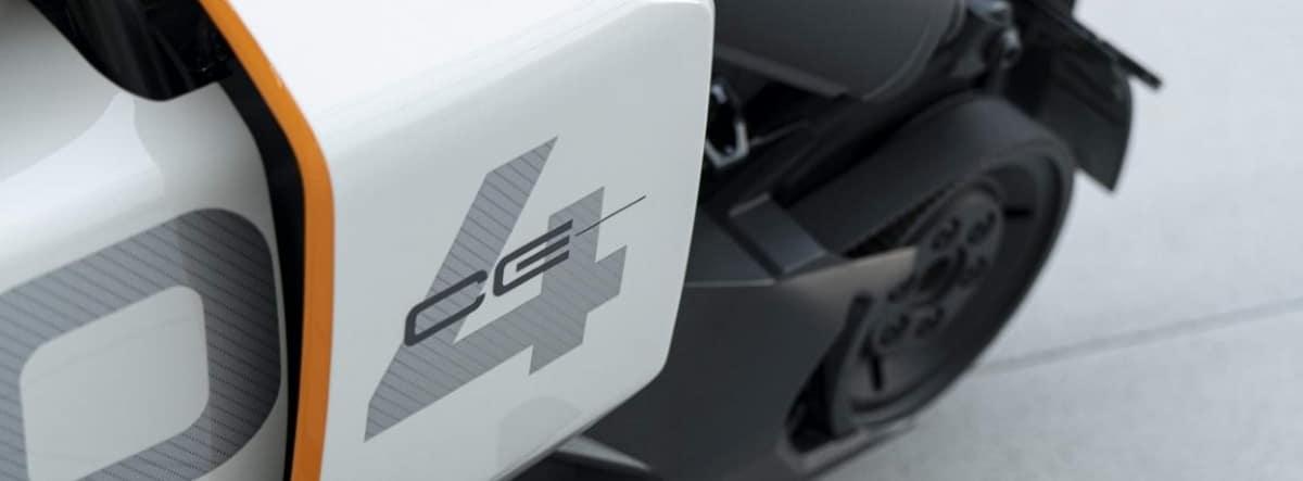 Vista detalle del nuevo BMW Motorrad Definition CE 04