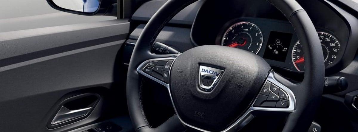 Vista detalle del volante del nuevo Dacia Sandero 2021