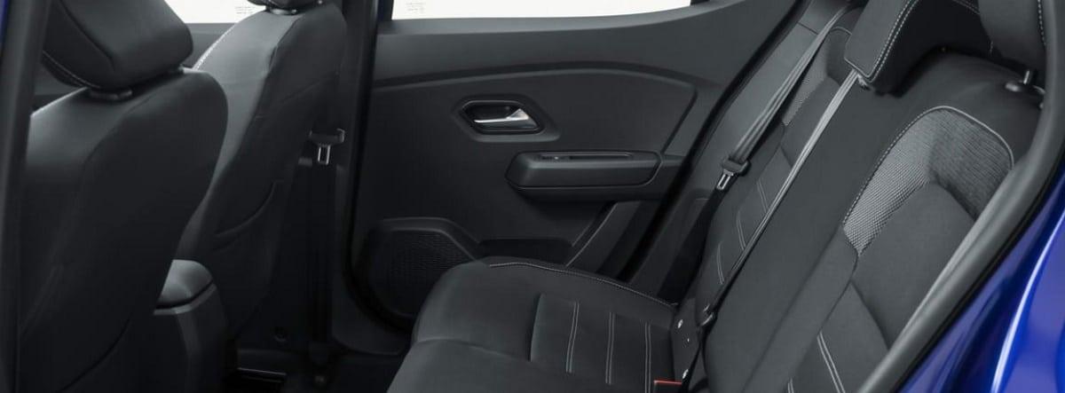 Vista detalle del habitáculo trasero del nuevo Dacia Sandero 2021