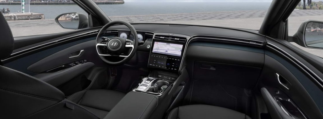 Vista del habitáculo delantero del nuevo Hyundai Tucson 2021