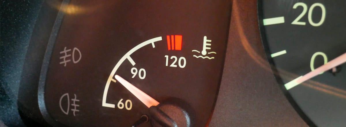 Indicador de temperatura del líquido refrigerante del coche