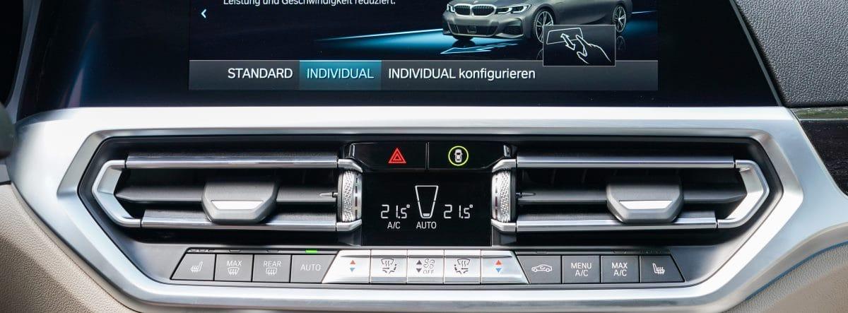 BMW 320E imagen de detalle del climatizador