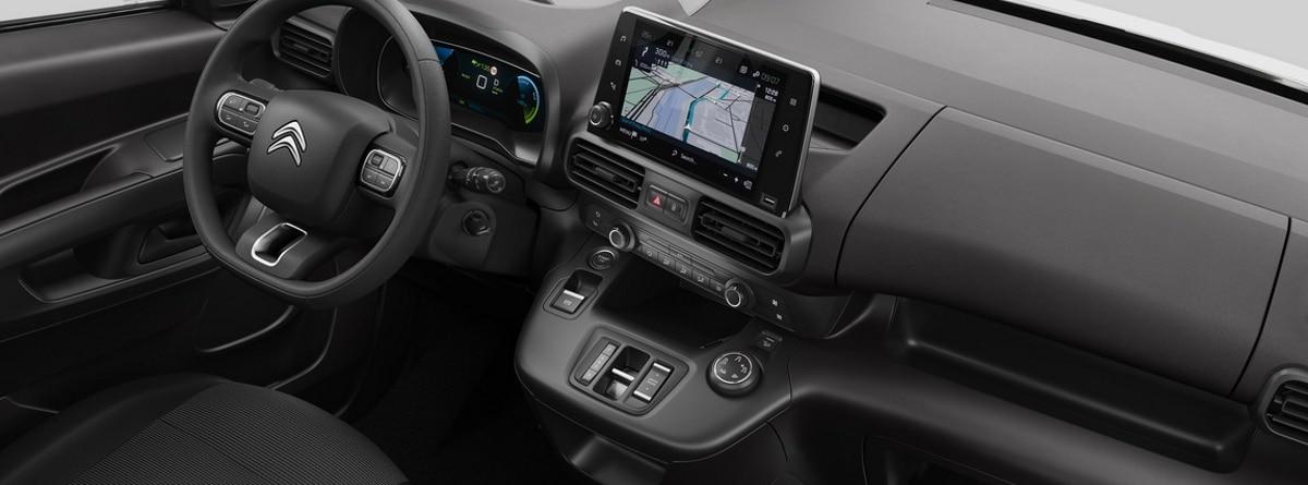 Interior del Citroen e-Berlingo Van