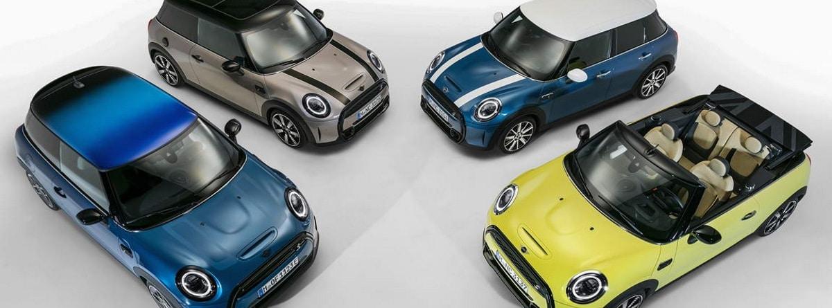 4 Mini Cooper 2021 distintos