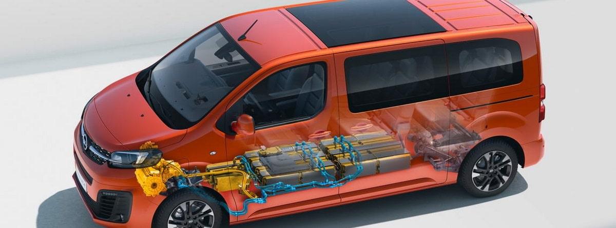 Opel Zafira-e Life infografia baterias