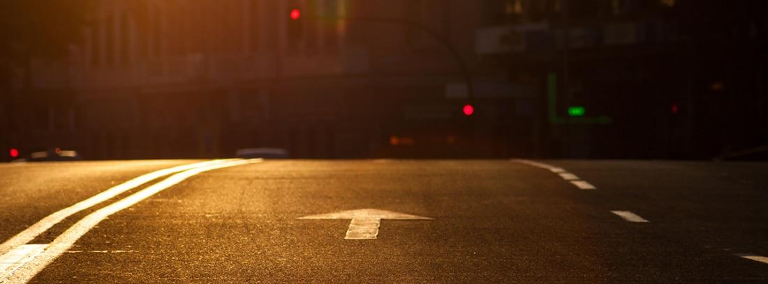 Cambio de rasante en una carretera