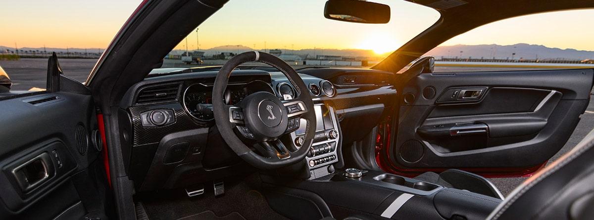 Interior del Mustang Shelby