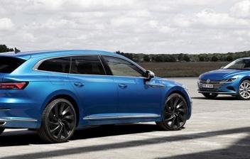 dos Volkswagen Arteon azules