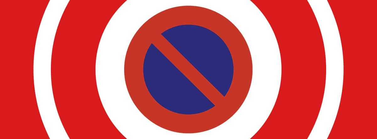 Señal R-308 de estacionamiento prohibido