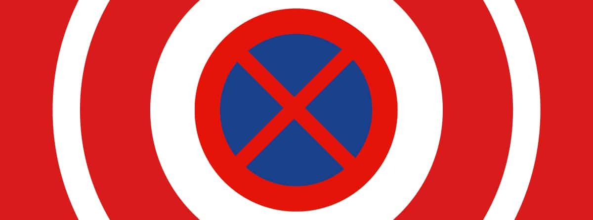 Señal R-307 de parada y estacionamiento prohibido