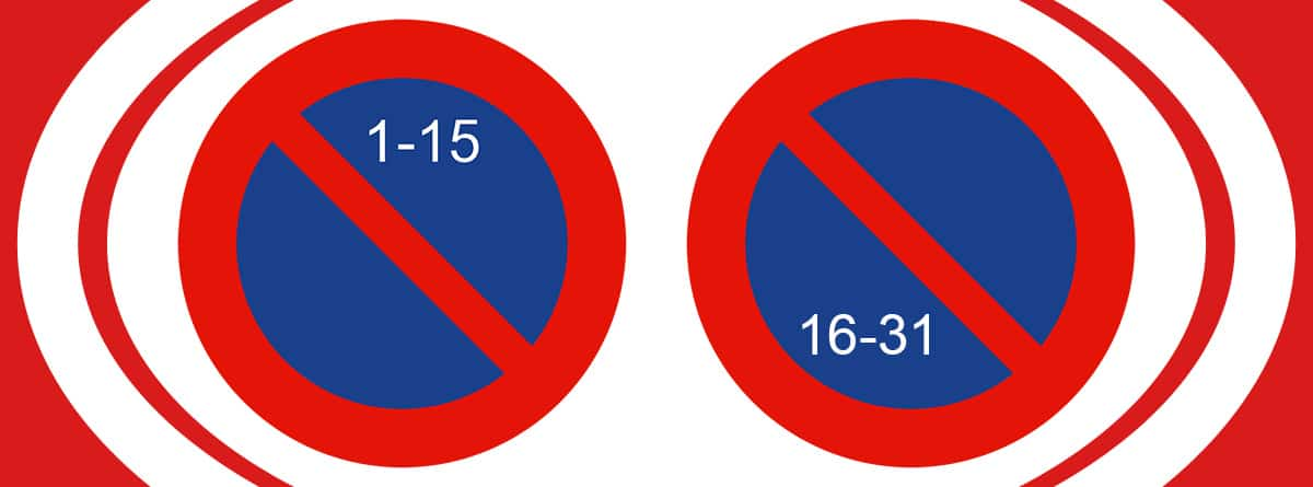 Señales de estacionamiento prohibido según quincenas