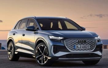 Audi Q4 e-tron azul