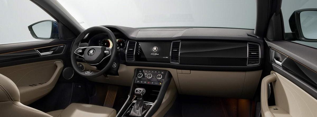 Interior, volante, salpicadero, cuadro de mandos Skoda kodiaq 2021