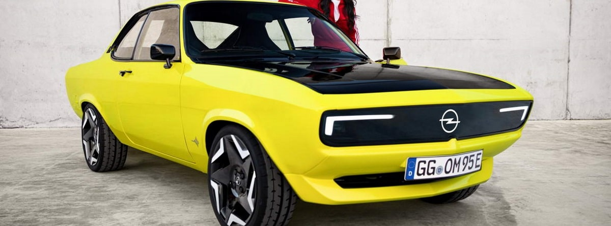 Vista frontal del Opel Manta GSe elektroMOD