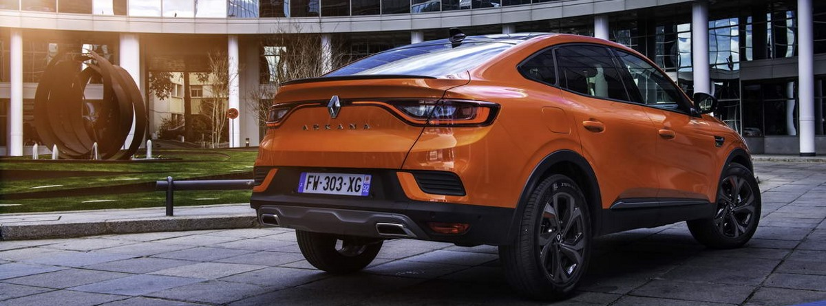 Parte trasera del nuevo Renault Arkana E-Tech